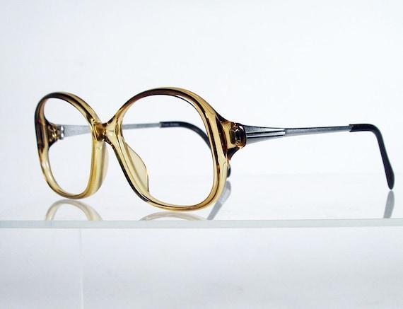 Zeiss Eyeglass Frame : YVES CHANTAL by ZEISS Golden Brown Vintage Eyeglass Frames