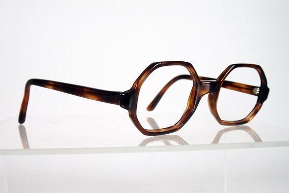 Vintage 1960s art craft octagonal tortoise eyeglass by chigal for Art craft eyeglasses vintage