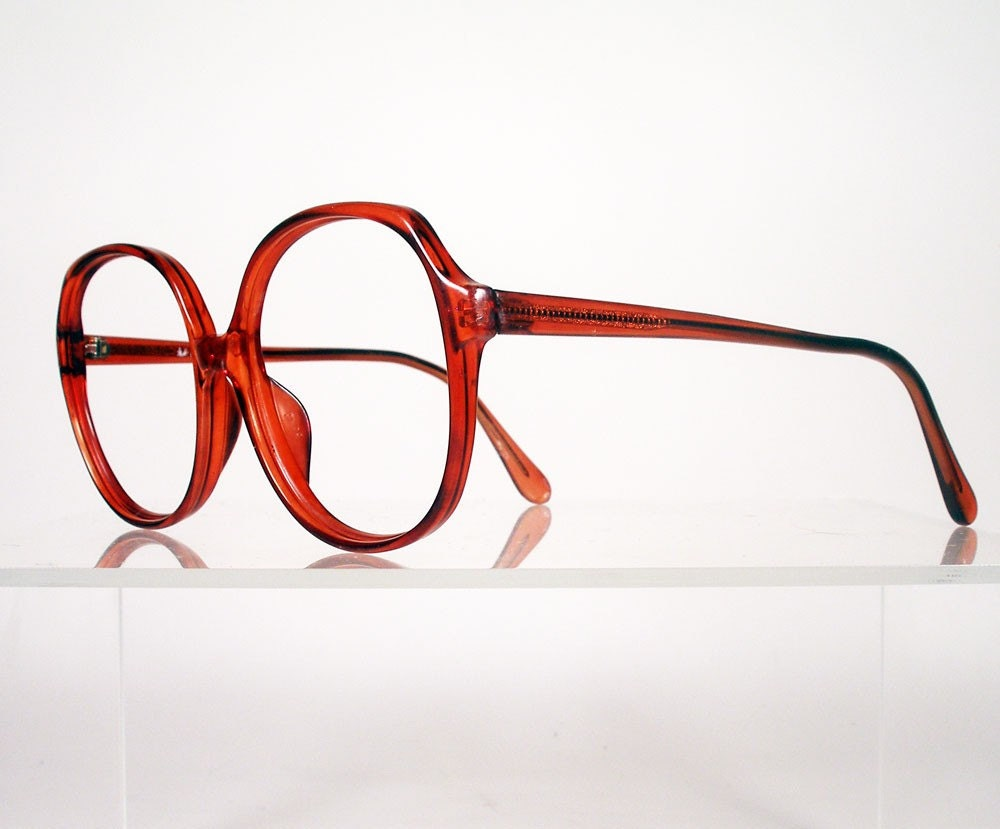 Big Red Frame Glasses : BENELTON Newport Big Red Round Eyeglass Frames