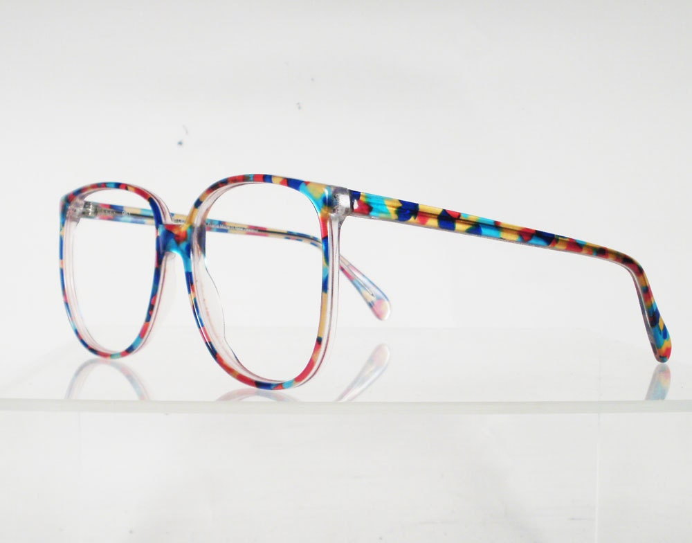 Eyeglass Frames On Your Picture : AUSTRALIAN OPTICAL Drover Multi Colored Eyeglass Frames by ...