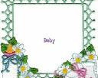 Baby Quilt Label machine embroidered personalized