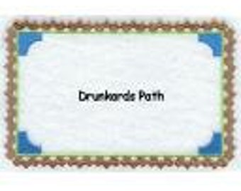 Drunkards Path Quilt Label machine embroidered personalized