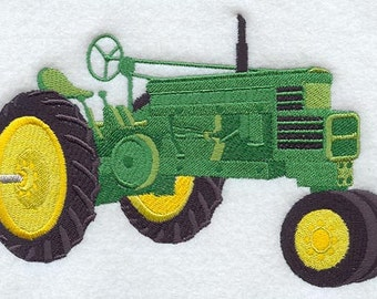 FARM TRACTORS 5 large machine embroidered quilt squares