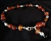Carnelian and Onyx Bracelet