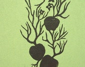 SALE - Apples limited edition linocut print