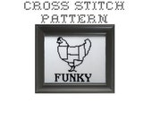 DIY Butcher Chart Chicken - .pdf Original Cross Stitch Pattern - Instant Download