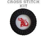 DIY Godzilla cross stitch KIT