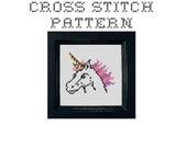 DIY  Unicorn - .pdf Original Cross Stitch Pattern - Instant Download