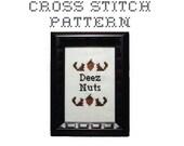 DIY Deez Nuts - .pdf Original Cross Stitch Pattern - Instant Download