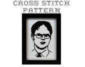 DIY Dwight Schrute - .pdf Original Cross Stitch Pattern - Instant Download