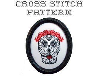 DIY Sugar Skull (version 3) - .pdf Original Cross Stitch Pattern - Instant Download