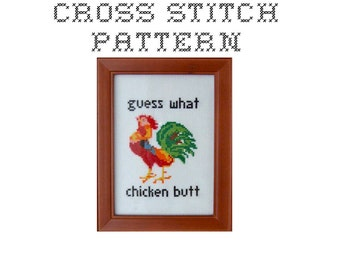 DIY Guess What  - .pdf Original Cross Stitch Pattern - Instant Download
