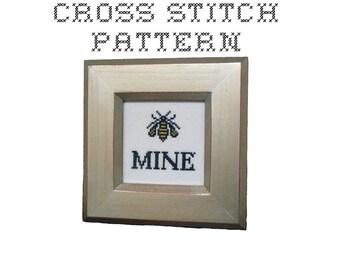 DIY Be Mine - .pdf Original Cross Stitch Pattern - Instant Download