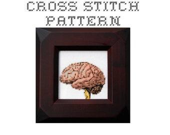 DIY Brain  - .pdf Original Cross Stitch Pattern - Instant Download
