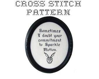 DIY Sparkle Motion - .pdf Original Cross Stitch Pattern - Instant Download