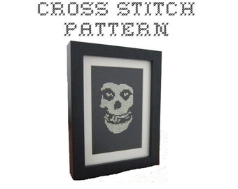 DIY Crimson Ghost - Misfits Logo Inspired - .pdf Original Cross Stitch Pattern - Instant Download
