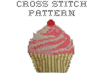 DIY Cupcake - .pdf Original Cross Stitch Pattern - Instant Download