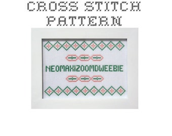 DIY Neomaxizoomdweebie  - .pdf Original Cross Stitch Pattern - Instant Download