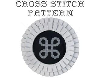 DIY Mac Command Key - .pdf Original Cross Stitch Pattern - Instant Download