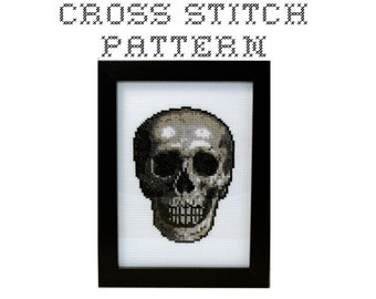 DIY Skull - .pdf Original Cross Stitch Pattern - Instant Download