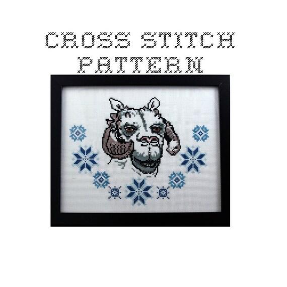 DIY Tauntaun - .pdf Original Cross Stitch Pattern - Instant Download