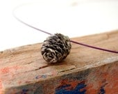 Pine Cone Necklace Botanical Jewelry Sterling Silver Woodland