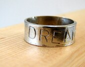 Personalized Ring Hand Stamped Sterling Silver