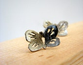 Butterfly Stud Earrings Sterling Silver  Woodland Series