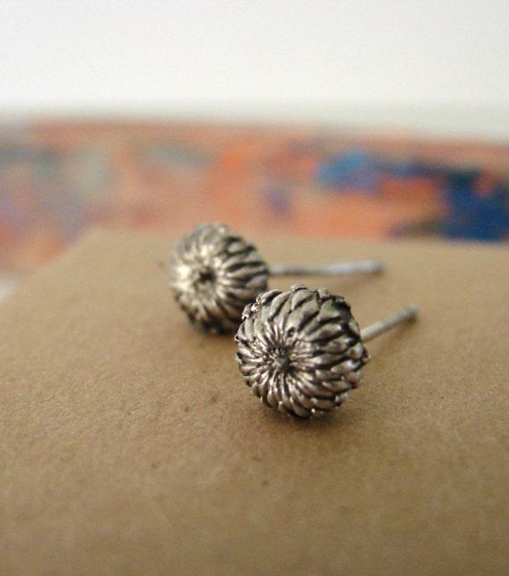 Botanical Jewerly Acorn Studs Sterling Silver Stud Earrings Woodland Series