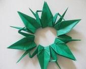 "200 Origami Crane 6"" Dark Green Color"