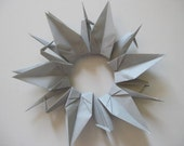 Set of 100 Origami 6 inches Cranes grey color gray shade