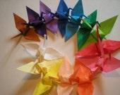 1000 origami cranes 3 inches multi solid color