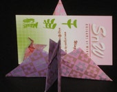 50 origami crane place card holder folded from 6 inches origami paper
