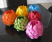 Paper Napkin Lotus Flower for any party event pick your color