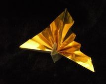 50 Unique Origami Peacock in metallic silver or gold you pick the color