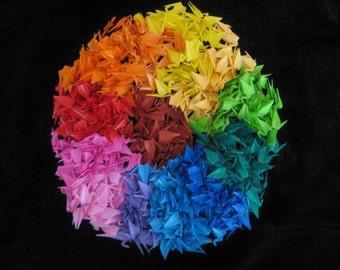 500 origami cranes in mix color