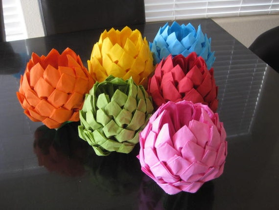 Items Similar To Paper Napkin Lotus Flower For Any Party