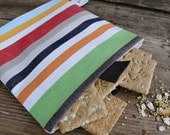 1 Reusable sandwich snack  bag in organic cotton