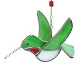 Hummingbird Stained Glass 3D Dimensional, Ruby Throated throat, Calliope, Rufous, Broad Tailed (322)
