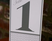 Chevron Table Numbers  1-10 - halffullmartini
