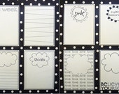 24 Project Life journaling cards/gift tags - white.