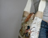 Recycled Egyptian Printed Linen Handbag