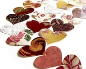 Vintage Red Heart Wall Paper Punches Packet of 100