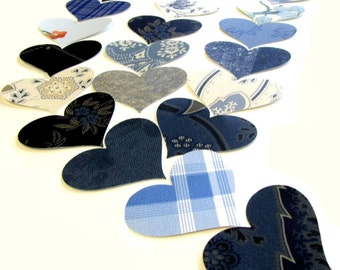 Blue Heart Wall Paper Punches Vintage Packet of 100