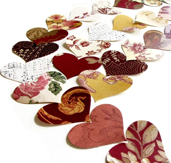 Red Heart Wall Paper Punches Vintage Packet of 100
