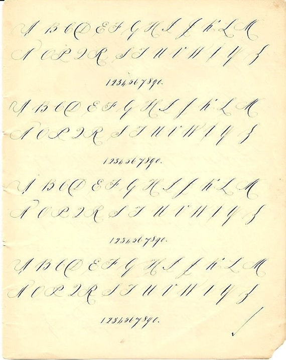 practice your handwriting 2 early 1900s vintage practice. Black Bedroom Furniture Sets. Home Design Ideas