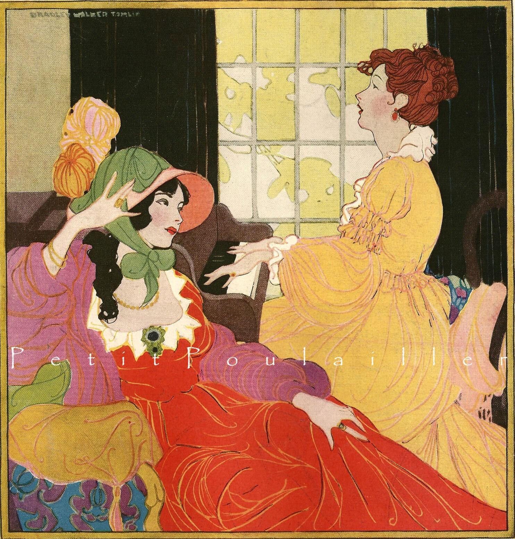 1922 bradley walker tomlin magazine cover 39 le miroir des for Miroir des modes prints