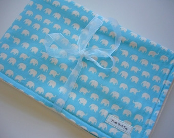 CLEARANCE SALE - Eco Collection Baby Blanket - Blue Elephants