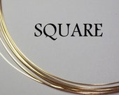22 GA. 1 FT. 14kt Gold filled- Square, Dead Soft