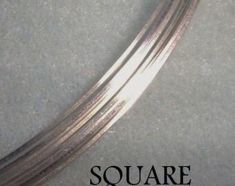 20 ga. 5 ft. ARGENTIUM STERLING SILVER Wire - Square, dead soft . Anti Tarnish